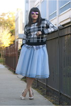 eShakti skirt - Forever 21 sweater - Mango shirt - Ray Ban sunglasses