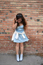 White-nasty-gal-boots-light-blue-denim-american-eagle-dress