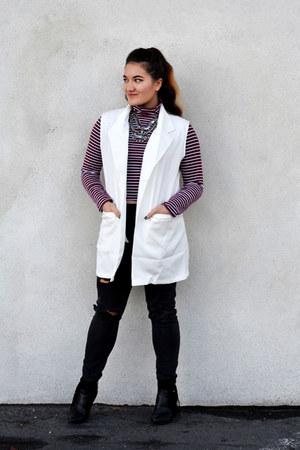 white white Dressin blazer