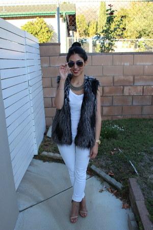 H&M jeans - H&M vest - Steve Madden heels