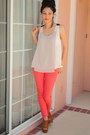 Salmon-irenes-story-jeans-tawny-forever21-wedges-off-white-sugarlips-top