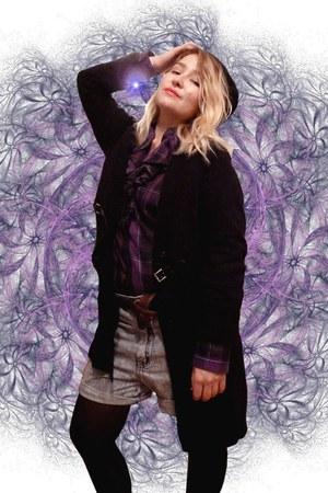 deep purple Ralph Lauren blouse - black comptoire des cotonniers hat