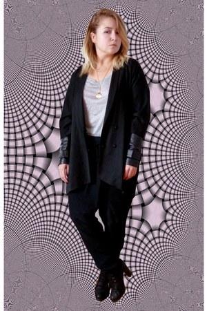 black COS blazer - silver H&M shirt - vintage necklace