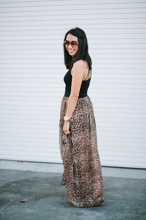 black leopard print dress
