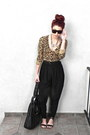 Black-bag-black-high-waisted-vintage-pants-silver-d-g-necklace-bronze-le