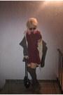 Babydoll-miu-miu-dress-suede-steve-madden-boots-coat