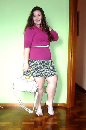Arezzo Clog shoes - Daslu shirt - bag - Forever 21 top - necklace
