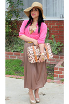camel Dulce Candy skirt - gold Bakers heels