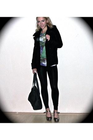 Zara blouse - calvin klein jacket - Lacoste bag