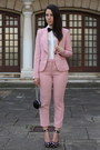 Black-h-m-shoes-pink-zara-suit