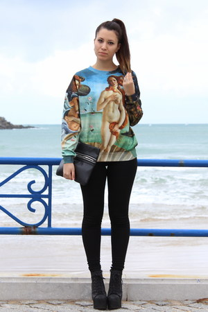 botticelli romwe jumper - asos leggings