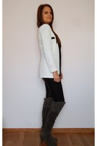 heather gray Ebay boots - white Oasapcom blazer
