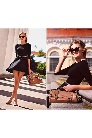 black OASAP dress