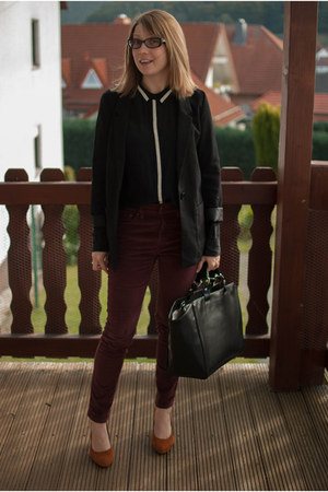 black boyfriend H&M blazer - black Zara bag