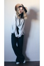 H&M hat - Adidas shoes - H&M sweater - Koton pants
