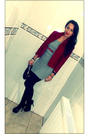 red - Zara blazer