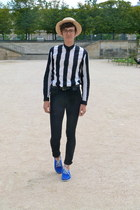 black denim Natural Selection Denim jeans - blue suede Quoddy shoes