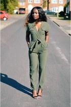 olive green Primark bodysuit
