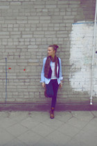 River Island boots - Zara jeans - Bershka shirt - leopard print H&M scarf - Bers