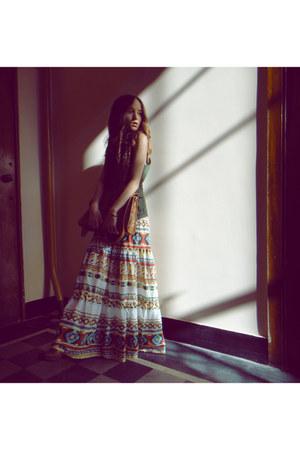 Boohoo dress - Cubus bag - Zara vest