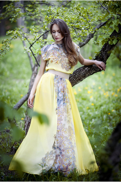 daisy yellow EFL dress