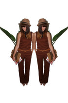 camel fedora new look hat - clutch tan warehouse bag - Kurt Geiger heels
