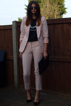 black Ebay bag - neutral Primark blazer - gray Primark sunglasses