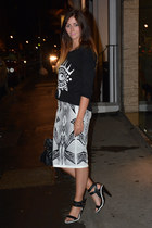 black balenciaga bag - white River Island skirt - black Kurt Geiger heels
