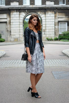 black Forever 21 jacket - black Chanel bag - white Inthestyle top
