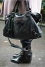 Black-zara-boots-pink-coat-black-balenciaga-bag-black-bhs-jumper