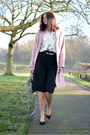 Pink-betty-jackson-coat-white-zara-shirt-heather-gray-zara-bag