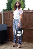 H&M shirt - Ebay bag - Forever 21 pants - Primark heels - Forever 21 necklace
