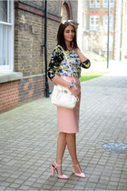 white PERSUNMALL bag - light pink Zara shoes