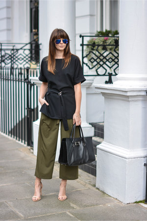 army green asos pants