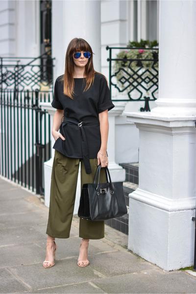 army green asos pants