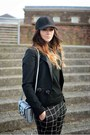 Black-kurt-geiger-shoes-black-h-m-hat-black-h-m-blazer-silver-asos-bag