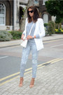 Silver-sos-jeans-jeans-white-forever-21-blazer-white-persunmall-bag