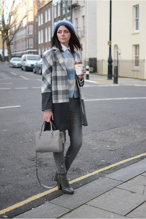 charcoal gray Topshop boots - charcoal gray Topshop coat