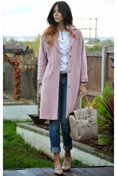 Light Pink Zara Wool Coat | Chictopia
