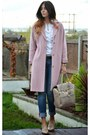 Beige-river-island-shoes-light-pink-betty-jackson-coat-navy-new-look-jeans