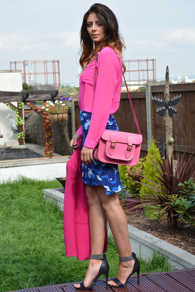 hot pink Topshop shirt - hot pink Matalan blazer