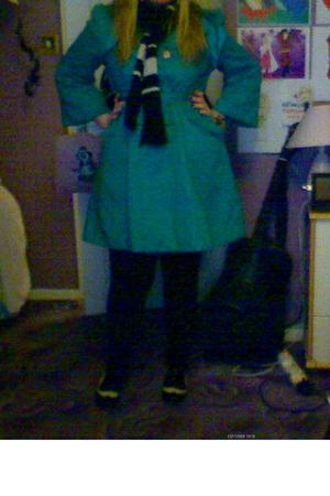 Marks and Spencers coat - Matalan leggings - new look blazer - new look skirt -