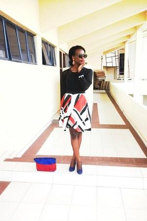 skirt - shoes - anna ammons dress - ESIsaccs me purse - Marc Jacobs glasses
