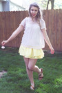 Periwinkle-sheer-flowy-forever-21-blouse-light-yellow-cotton-forever-21-skirt