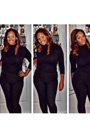 black cotton H&M pants