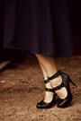 Black-garage-sale-shirt-dark-gray-forever-21-heels