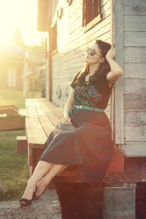 black vintage skirt - black Target top