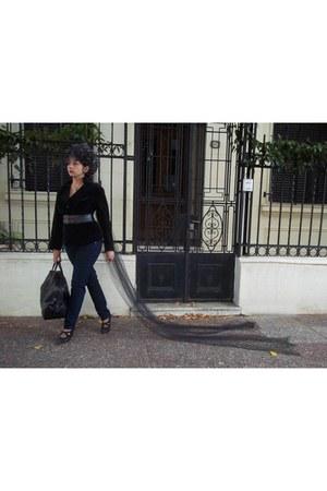 velvet vintage blazer - Sybillia jeans - Noelia Adamoli hat
