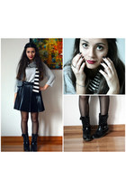 black inlovewithfashion skirt - white from Germany scarf - silver H&M top