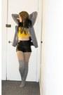 Primark-blazer-h-m-shorts-ribbcage-print-galstar-top